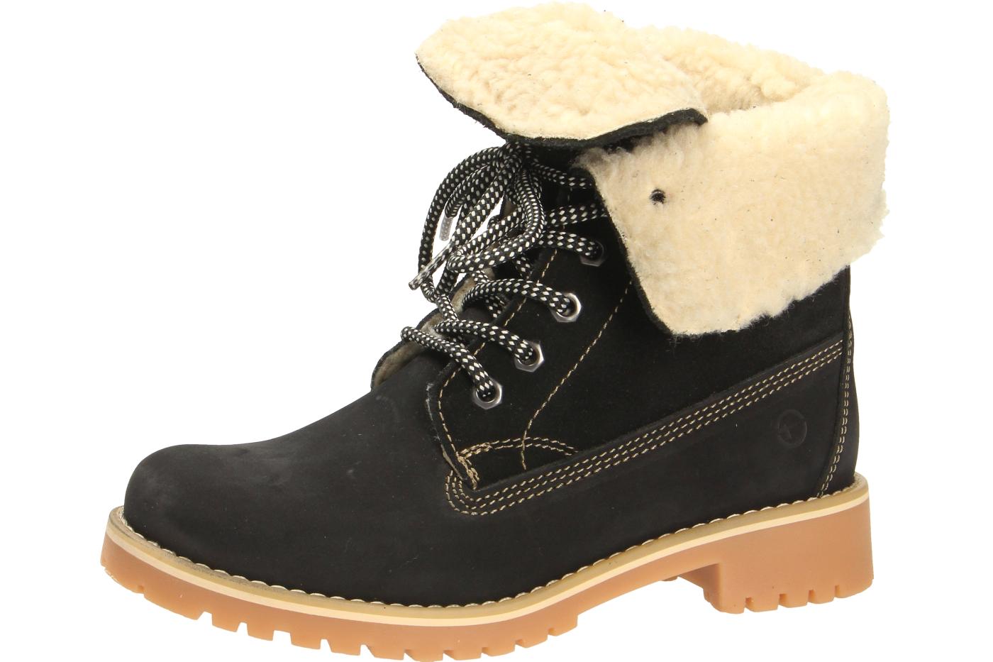 Rieker Stiefelette Schuhe Damen Warmfutter Stiefel Damenschuhe Schwarz  L4691-01